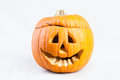 Halloween pumpkin with scary face Royalty Free Stock Photo