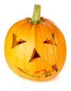 Halloween pumpkin.Scary Jack o'Lantern Obrazy Stock