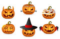 Halloween Pumpkin Set Royalty Free Stock Image