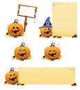 Halloween pumpkin set cute little pumkin for you designs Royalty Free Stock Images