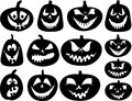 Halloween pumpkin silhouettes Royalty Free Stock Photo
