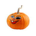 Halloween pumpkin with smile isolated on white background Stock Photo