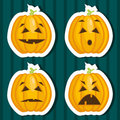 Halloween pumpkin stickers Royalty Free Stock Photos