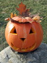 Halloween pumpkin on the stone Royalty Free Stock Photography