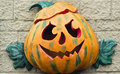 Halloween pumpkin symbol on the facade Royalty Free Stock Image