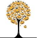 Halloween pumpkin  tree 3 Royalty Free Stock Photo