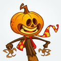 Halloween pumpkin. Vector jack-o-lantern character mascot.