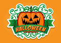 Halloween Pumpkin Vector Sticker Royalty Free Stock Images