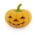Halloween pumpkin on a white background Royalty Free Stock Photo