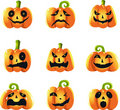 Halloween pumpkins background Stock Images