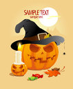 Halloween pumpkins design template Stock Image