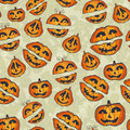 Halloween pumpkins pattern cute seamless with Stock Photography