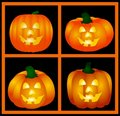 Halloween Pumpkins Set Royalty Free Stock Photos