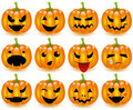 Halloween pumpkins smileys Stock Photography