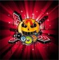 Halloween Rainbow Disco Music Background
