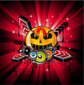 Halloween Rainbow Disco Music Background Stock Images