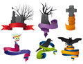 Halloween ribbon collection Royalty Free Stock Photo