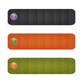 Halloween ribbon set with  buttons. black, orange, green. Royalty Free Stock Photo