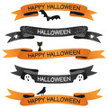 Halloween Ribbons or Banners Set Royalty Free Stock Photo