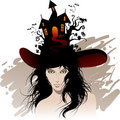 Halloween's beautiful witch Royalty Free Stock Photos