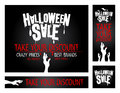 Halloween sale banners collection Royalty Free Stock Images
