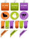 Halloween Sale Tags Elements Set Royalty Free Stock Photo