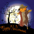 Halloween scarecrow Royalty Free Stock Image