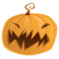 Halloween scary cartoon vector pumpkin trick or treat isolated orange yellow Stock Photo