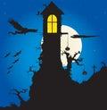 Halloween scene 库存图片