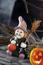Halloween scene on dark background with objects pumpkin and other Royalty Free Stock Photography