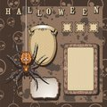 Halloween scrapbooking kit Royalty Free Stock Images