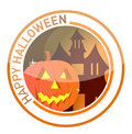 Halloween seal illustration design Stock Image