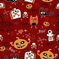 Halloween seamless background for children cartoon bright Royalty Free Stock Image