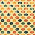 Halloween seamless background with pumpkin. Royalty Free Stock Images