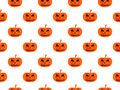 Halloween seamless background with pumpkin. For wallpaper, bed linen, tiles, fabrics, backgrounds.