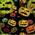 Halloween seamless black tile Stock Photo