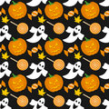 Halloween Seamless Pattern [1] Royalty Free Stock Images