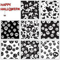 Halloween seamless patterns Stock Image