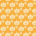 Halloween Seamless Pumpkin Pattern Orange Royalty Free Stock Photo