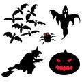 Halloween-Set Stockfotografie