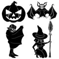 Halloween set characters vector isolated on white background Stock Image