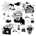 Halloween set of design elements Royalty Free Stock Photo