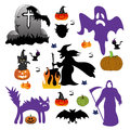 Halloween set of design elements Royalty Free Stock Photography
