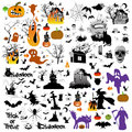 Halloween set of design elements Royalty Free Stock Image