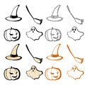 Halloween set vector this is file of eps format Stock Image
