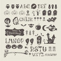 Halloween set vector icons this is file of eps format Stock Photo