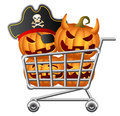 Halloween Shoppingcart Stock Images
