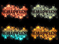 Halloween sign on fire Royalty Free Stock Photos
