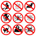 Halloween signs collection Royalty Free Stock Photo