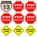 Halloween signs collection Royalty Free Stock Photos